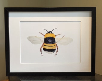 Bee print from original painting