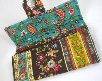 Make It Yourself - Carry All Tri Fold Wallet with 15 Pockets INSTANT DOWNLOAD PDF Sewing Pattern with Full size pattern pieces