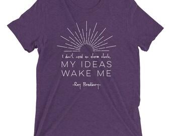 My Ideas Wake Me - Ray Bradbury - Short sleeve t-shirt