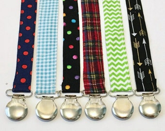 Baby Pacifier Clips -Free Shipping-Pacifier Clip- MAM Pacifier- Baby Pacifier-Baby Boy Pacifier- Choose Your Own Prints -Boy Pacifier