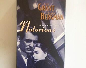 Notorious (VHS, 1996) Cary Grant, Ingrid Bergman