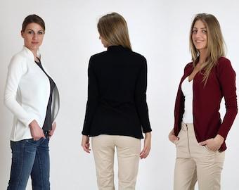 New!!! 2017 Spring Tight ribbed blazer-jacket / Womens Blazer/ Women slim fit blazer/ Jacket / Long sleeve jacket/