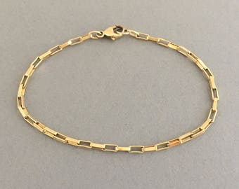 Gold Bar Link Bracelet also available in Silver