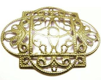 6pc antique bronze filigree wraps-4205