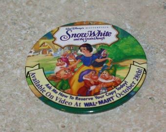 Walt Disney Masterpiece Snow White Walmart release button vintage