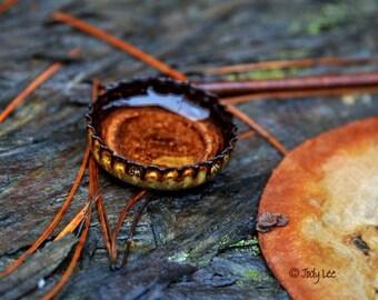 Rust Photograph, Rusty,  Still life photography, Wall Art, Minimal, Home Decor, Bottle cap, Rust Still Life