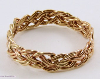 Handwoven Gold Filled Ring - Any Size, Woven Gold Ring, Handmade Gold Ring