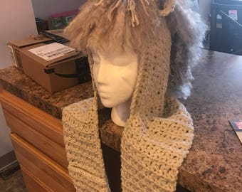 Hooded unicorn scarf