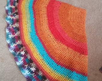Crochet circle blanket