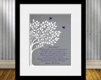 Maid of Honor Gift, BEST FRIEND Poem, Best Friends Wedding Gift, Best Friend Gift Print, Best Friend's Gift, Personalized Best Friend Gift