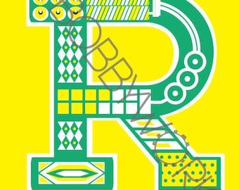 Alphabet Print - Letter R