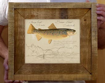 Framed Brown Trout - 8 x 10 inch print by Matt Patterson, fish print