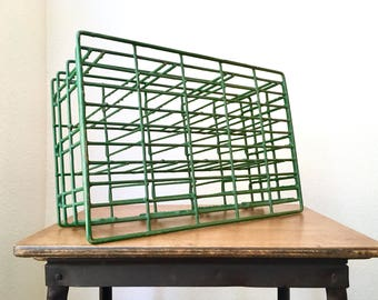 Vintage Industrial Farmhouse Wire Bottle Crate