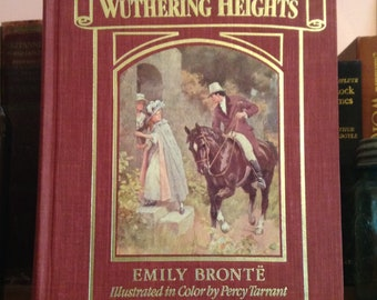 Wuthering Heights by Emily Bronte Vintage Illustrated Book, Collectible Book, Illustrated, Book Lover Gift, Classic Book, Hardcover