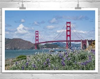 Baker Beach Photo, Golden Gate Bridge Photo, San Francisco Photo, Sailing Art, California Art, Golden Gate Bridge Sailboat Photograph