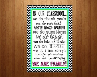 In Our Classroom Poster - digital download