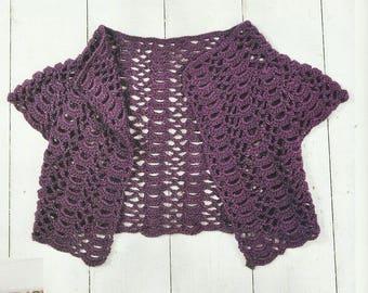 Crochet Silky Shrug PDF Crochet Pattern Instant Download