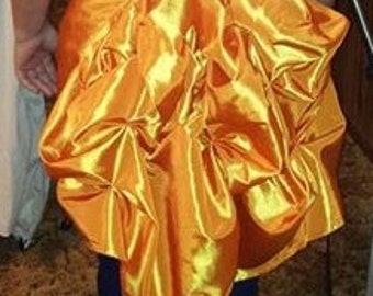 Beautiful Yellow Orange Shiny Bustle!!