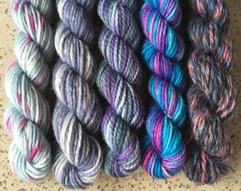 Mini Sock Yarn Skeins - Set of 5 Harry Potter Miniskeins for your knitting project bag - Professor Gilderoy Lockhart