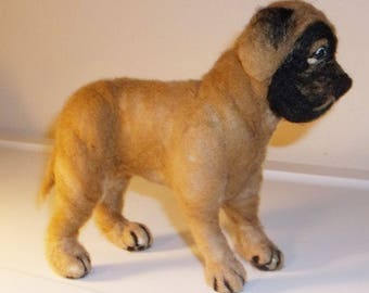 Needle felted Mastiff