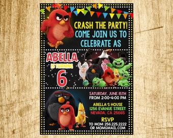 Angry Birds Invitation, Angry Birds Birthday, Angry Birds Birthday Invitation, Angry Birds Party, Angry Birds Printable Invitations