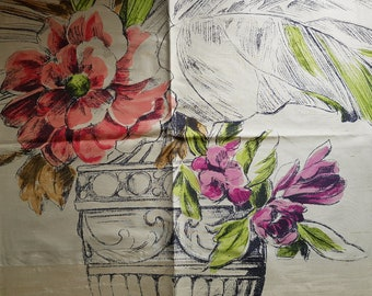 "ZEPHIRINE Designer's Guild Collection F1750/02 Topaz Floral Print Pure 100% Silk 23"" x 18.5"" (58.5 x 47cm) Taupe Lilac"
