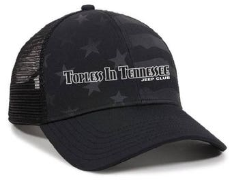 Topless In Tennessee Embroidered Stars and Stripes Hat