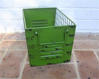 Metal Basket Metal Gym Basket Locker Basket Green Metal Basket Industrial basket