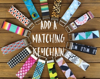 """4"""" Looped Fabric Keychain Fob - Made to Match your Dog Collar"""
