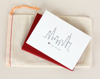 Love from Chicago: Skyline Notecard Set