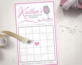 Wine Themed Bridal Shower – Bingo Cards (Digital File)