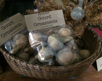 Primitive Spinner Gourd Ornaments