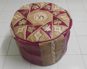Pouf Leder leder pouf pouf ottoman sitzkissen bodenkissen sitzhocker moroccan