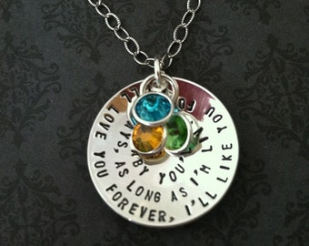 I'll love you forever, I'll like you for always - Hand Stamped Necklace - Hand Stamped Jewelry - Necklace for mom - Personalize Jewelry