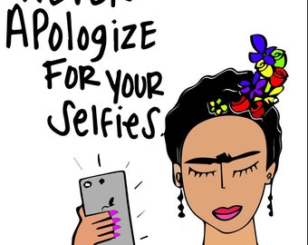 Bernie shirt Frida selfie