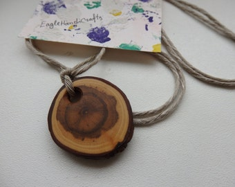 Wood Slice Jewellery, Natural Wood Pendant,Wood Necklace, , Rustic Jewelry, Rustic Necklace, Boho Necklace, Statement Jewelry