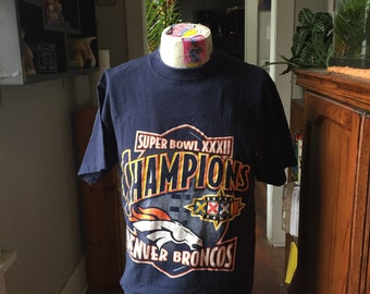 1998 Denver Broncos Superbowl Champions T-Shirt Size Large by Logo 7
