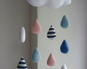 Cloud baby mobile - Rain Cloud