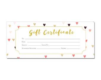 Valentines day, Gift Certificate Template, Gift Certificate Printable, Gift Certificate,Gift Certificate Download,birthday gift, gift, heart
