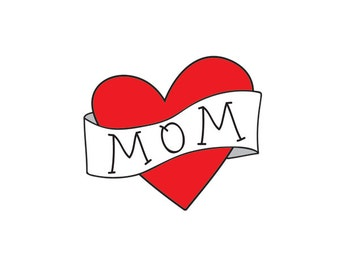 mothers day gift for mom temporary tattoo fake red heart tattoo red and black retro tattoo kids photographer mothers day photoshoot prop
