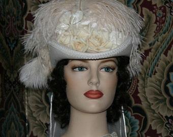 Victorian Hat, Riding Hat, Western Hat, Royal Ascot Hat, SASS Hat, Wedding Hat, Kentucky Derby Hat- Spirit of Virginia