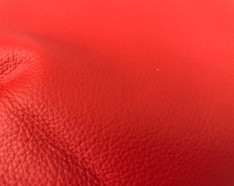 Soft Red Leather - Pieces and Scrap