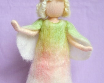 Easter fairy Waldorf inspired needle felted doll: Spring