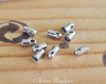 caps silver cords 2.1 mm x 10