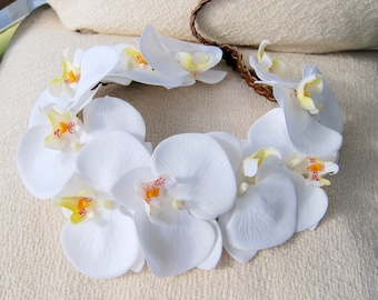 White Orchid Crown