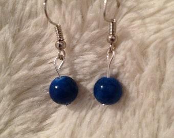 Beautiful Lapis drop earrings