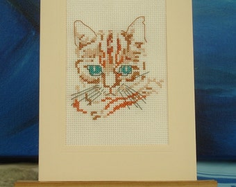 Embroidered cat card for all occasions