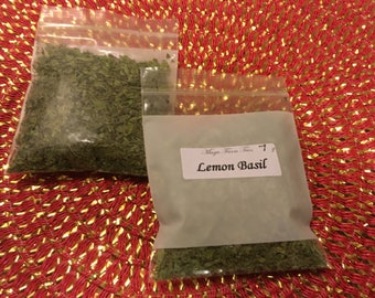 Lemon Basil - Dried herb 1/4oz.