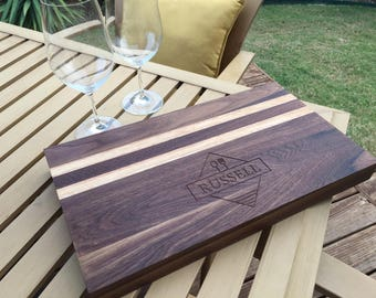 Personalized gifts Walnut, Oak and Maple Cutting Board