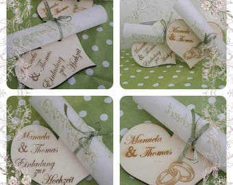 Invitations made personally desire and with love
